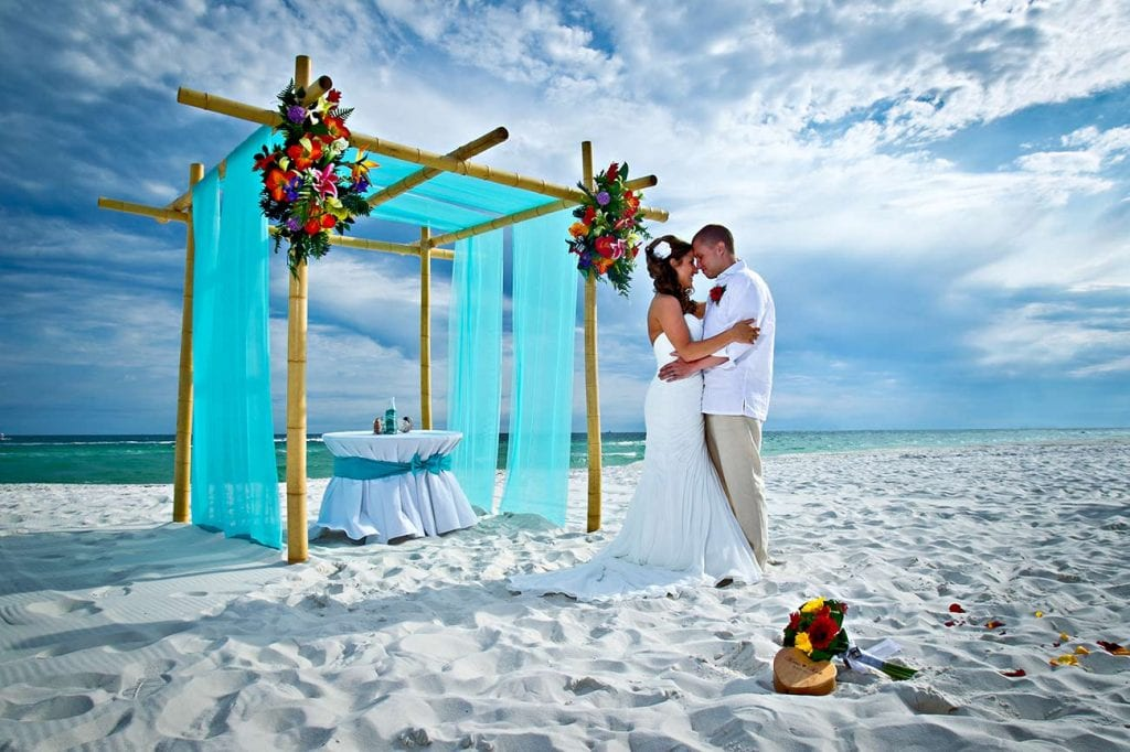 orange beach wedding on the beach