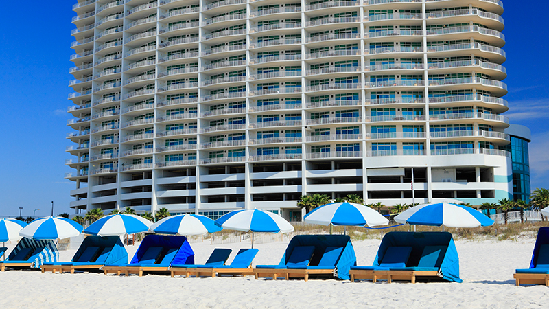 Beach Chair Rentals at Turquoise Place Resort Orange Beach Alabama