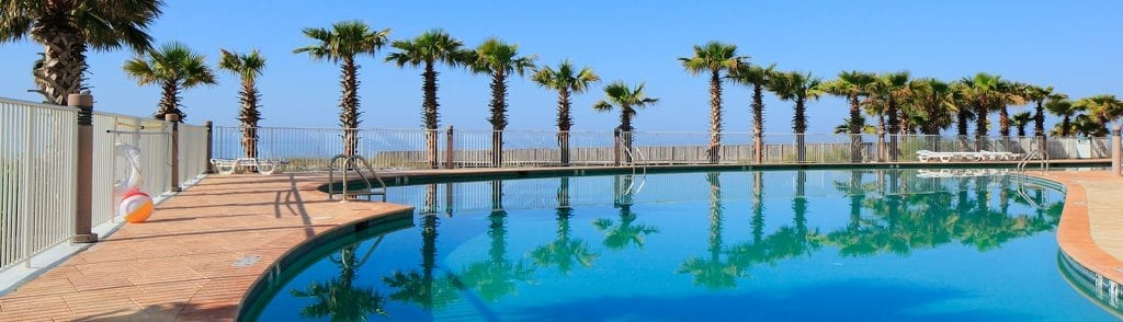 Outdoor pools at Turquoise Place Orange Beach AL