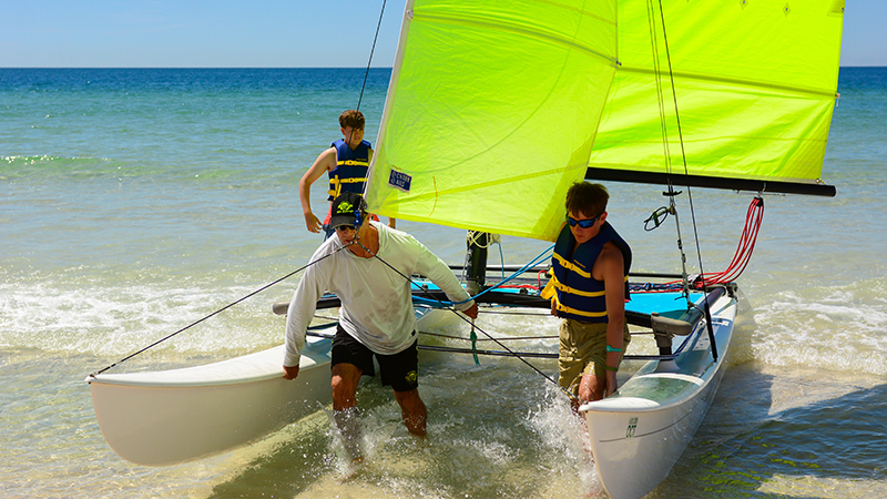 Hobie Cat Rides at Turquoise Place Resort Orange Beach Alabama