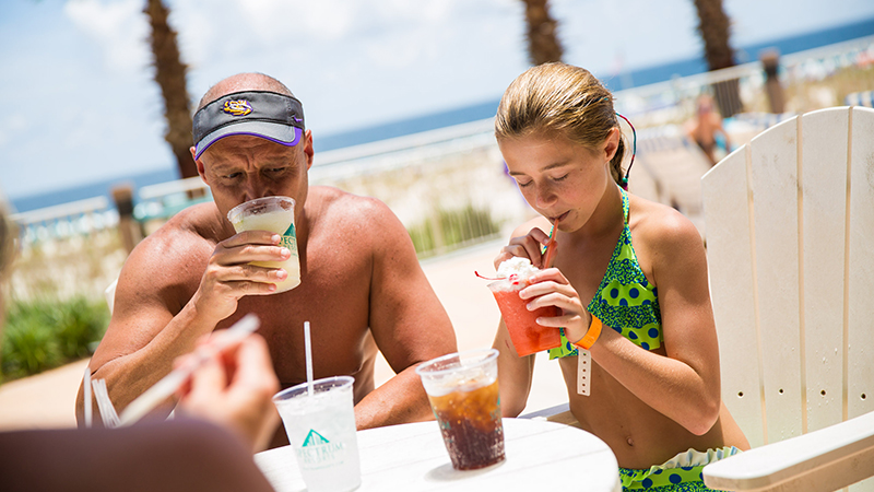 Refreshments by the pool at Turquoise Place Orange Beach Resort Alabama