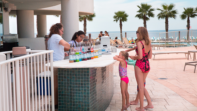 Snow Cones by the Pool - Turquoise Place Resort Orange Beach Alabama