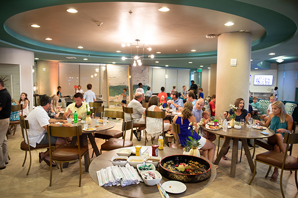 Spectrum Club Loung - continental breakfast - Turquoise Place Orange Beach