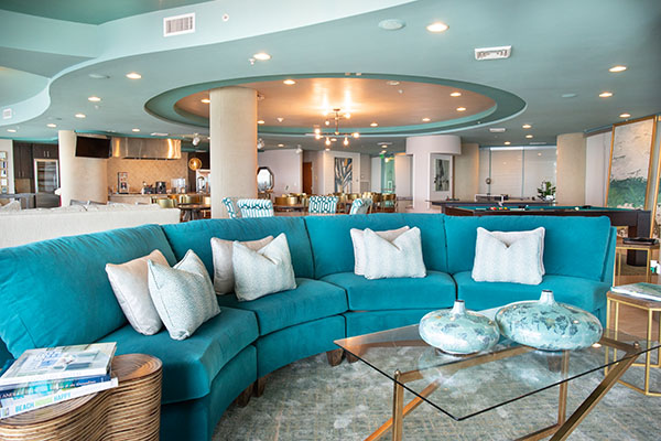 Spectrum Club Loung - inside seating - Turquoise Place Orange Beach