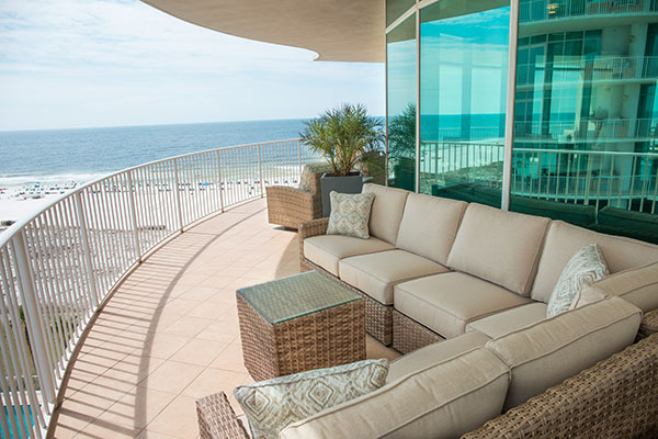 Spectrum Club Loung - outside seating - Turquoise Place Orange Beach