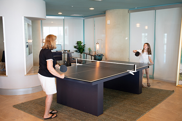 Spectrum Club Lounge -table tennis - Turquoise Place Orange Beach