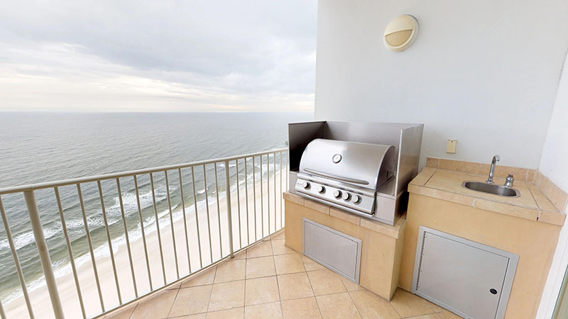 Condo balcony at Turquoise Place Orange Beach