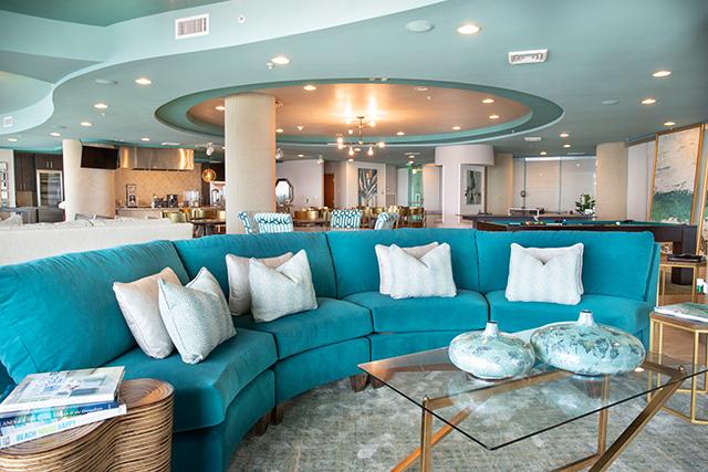 The Spectrum Club Lounge at Turquoise Place Resort in Orange Beach Alabama