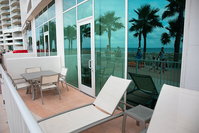 Poolside cabanas at Turquoise Place Resort Orange Beach Alabama