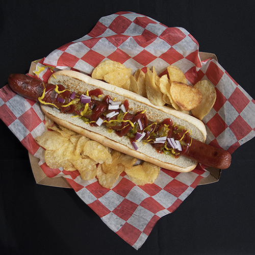 Hot Dog at Change of Pace Restaurant at  Turquoise Place Orange Beach Alabama