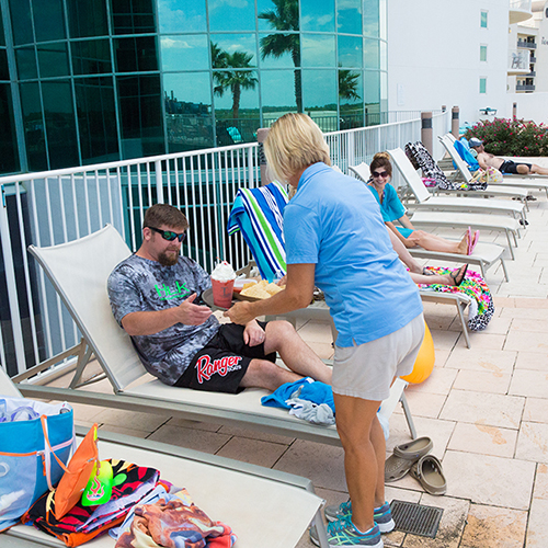 Lazy River Drink Service at  Turquoise Place Orange Beach Alabama