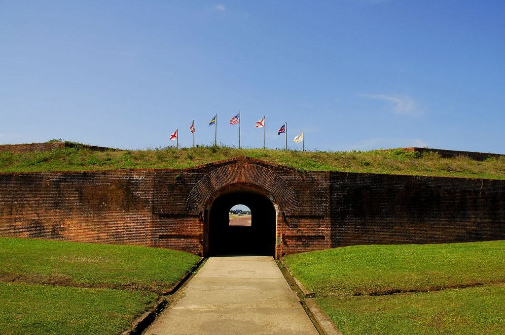 fort morgan entrance