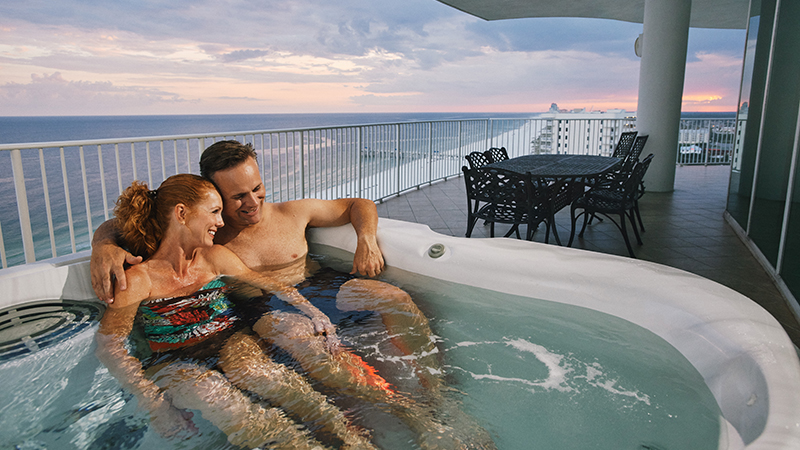 Hot Tubs on Balcony at Turquoise Place