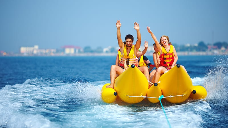 Banana Boat Rides at Turquoise Place Resort Orange Beach