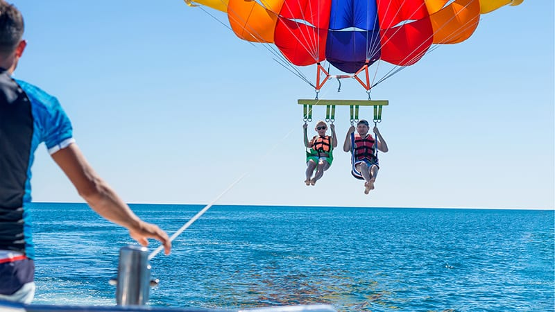 Parasailing at Turquoise Place Resort Orange Beach