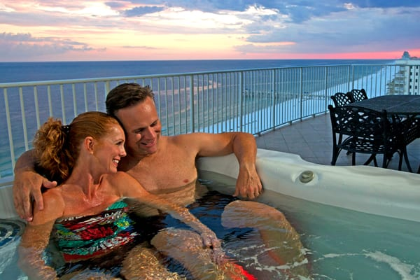 Balcony Hot Tub at Turquoise Place
