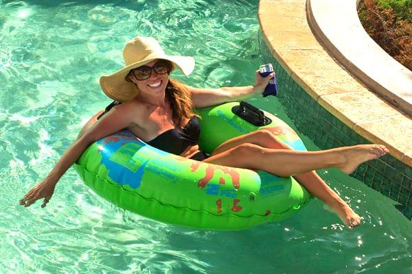 Woman enjoying Lazy River