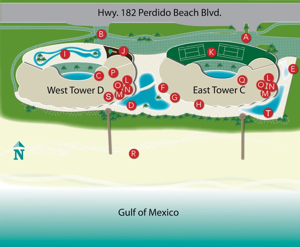 Property Map - Turquoise Place Resort Orange Beach Alabama